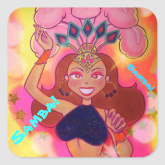Samba Girl No. 2 Square Sticker