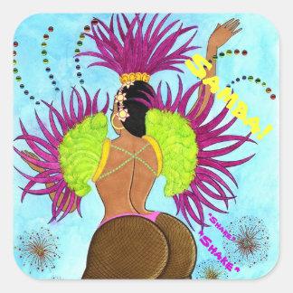 Samba Girl No. 3 Square Sticker