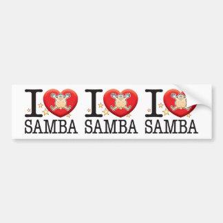 Samba Love Man Bumper Sticker