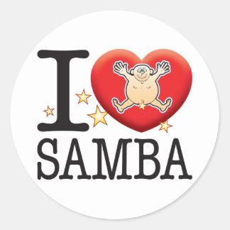 Samba Love Man Round Sticker