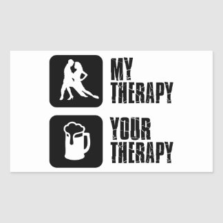 samba my therapy designs rectangular sticker