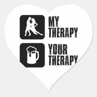 samba my therapy designs heart sticker