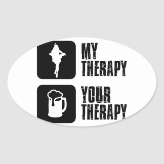 samba my therapy oval sticker