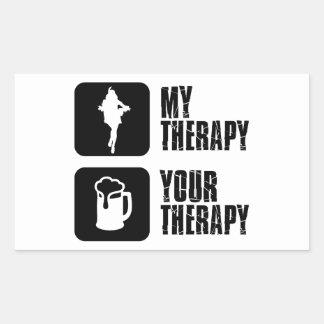 samba my therapy rectangular sticker