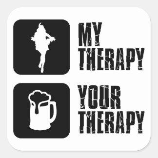 samba my therapy square sticker
