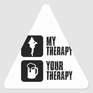 samba my therapy triangle stickers