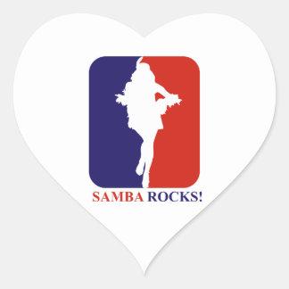 Samba  rocks designs heart sticker
