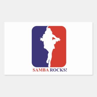 Samba  rocks designs rectangular sticker