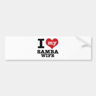 samba wife bumper sticker