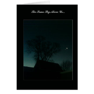 """Same Sky Above Us"" - Moon & Star Greeting Card"