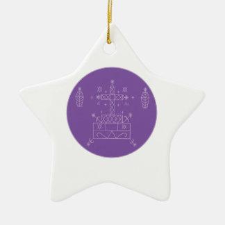 Samedi Veve Ceramic Star Decoration