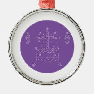 Samedi Veve Silver-Colored Round Ornament
