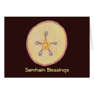 Samhain Apple Slice Witch Wiccan Pagan Card