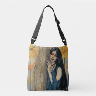Samhain Gothic Autumn Witch  Cross body Tote