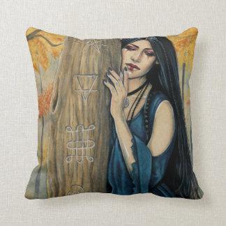 Samhain Gothic Autumn Witch Throw Pillow