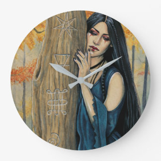 Samhain Gothic Autumn Witch Wall Clock