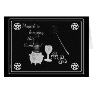 Samhain Magick Tools Black and White Card