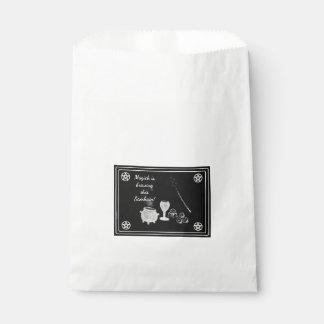 Samhain Magick Tools Black and White Favour Bag