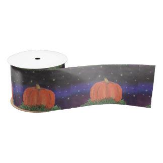 Samhain Pumpkin Night Satin Ribbon
