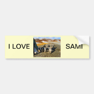 Sami settlement, Lapland, northern Norway Bumper Sticker