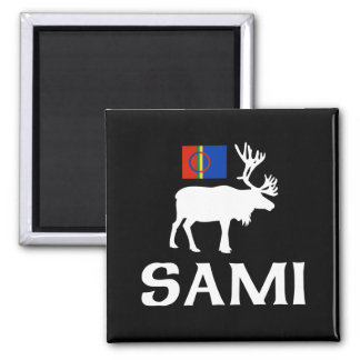 Sami, the People of Eight Seasons Square Magnet