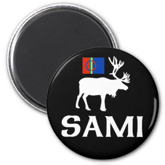 Sami, the People of Eight Seasons 6 Cm Round Magnet