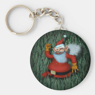 Sammy Claus Basic Round Button Key Ring