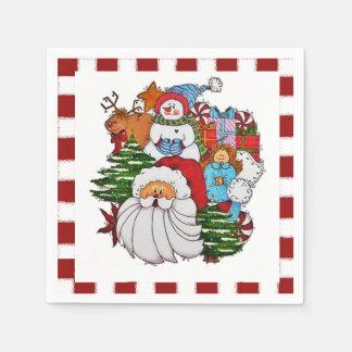 Sammy the Snowman Christmas Napkins Paper Napkin