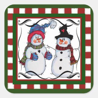 Sammy the Snowman Sticker