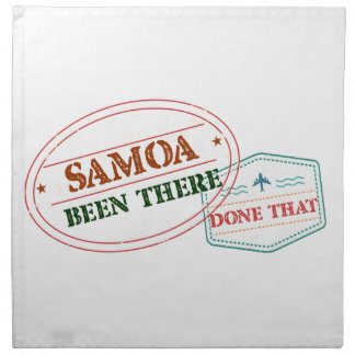Samoa Been There Done That Napkin
