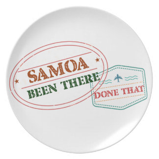 Samoa Been There Done That Plate
