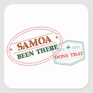 Samoa Been There Done That Square Sticker