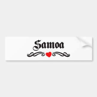Samoa Bumper Sticker