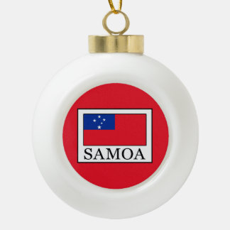 Samoa Ceramic Ball Christmas Ornament