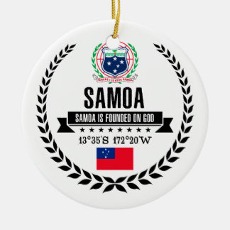 Samoa Ceramic Ornament