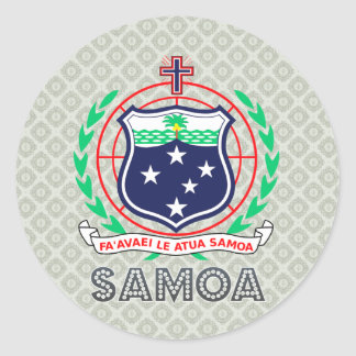 Samoa Coat of Arms Classic Round Sticker