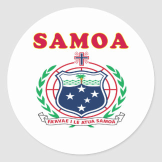 Samoa Coat Of Arms Designs Classic Round Sticker