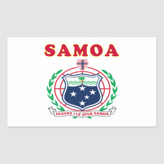 Samoa Coat Of Arms Designs Rectangular Sticker