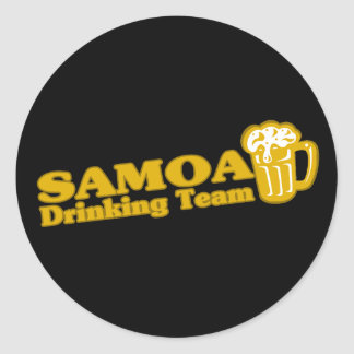 Samoa Drinking Team Classic Round Sticker