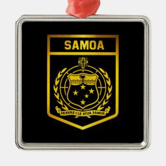 Samoa Emblem Metal Ornament