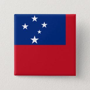 Samoa Flag 15 Cm Square Badge