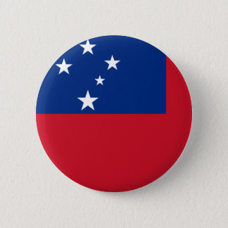 Samoa Flag 6 Cm Round Badge