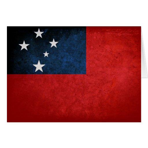 Samoa Flag Card