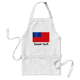 Samoa flag chef apron