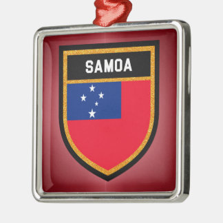 Samoa Flag Metal Ornament