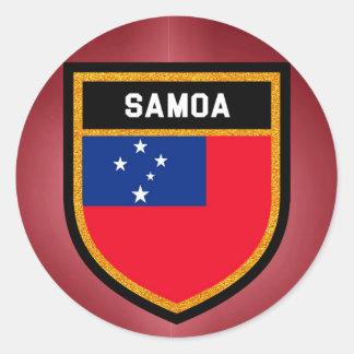Samoa Flag Round Sticker