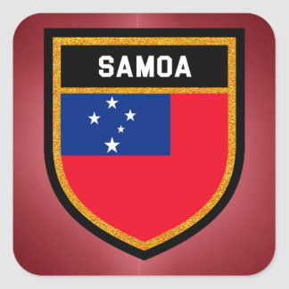 Samoa Flag Square Sticker