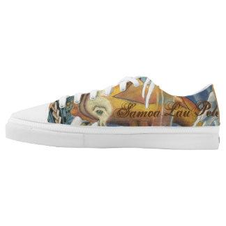 Samoa Lau Pele Low Cut Shoes with Koi Fish Printed Shoes