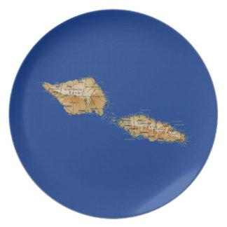 Samoa Map Plate