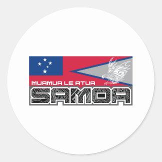 Samoa Muamua Le Atua - American Samoa / Samoa Flag Classic Round Sticker